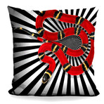 "Snake II Throw Pillow (16"" x 16"")"