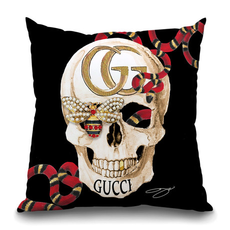 "BeeLieve in GG Throw Pillow (16"" x 16"")"