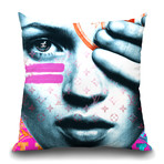 "Kate Rebel Throw Pillow (16"" x 16"")"