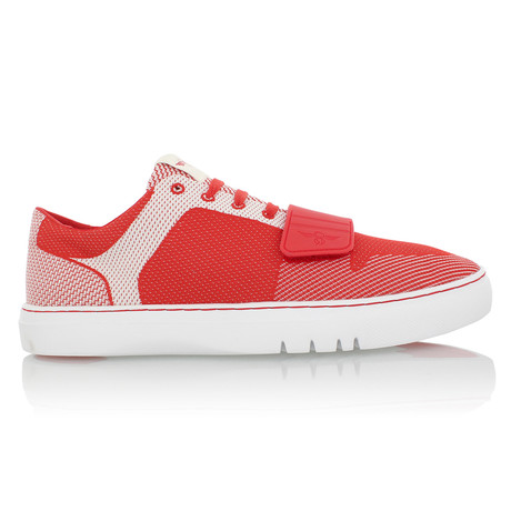 Cesario Lo Woven Sneaker // Red + White (US: 7)