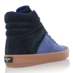Moretti High-Top // Blue + Black (US: 7.5)
