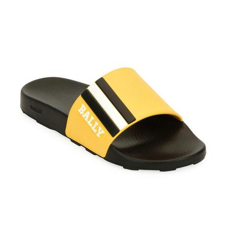 Saxor Slides // Yellow + Black + White (US: 7)
