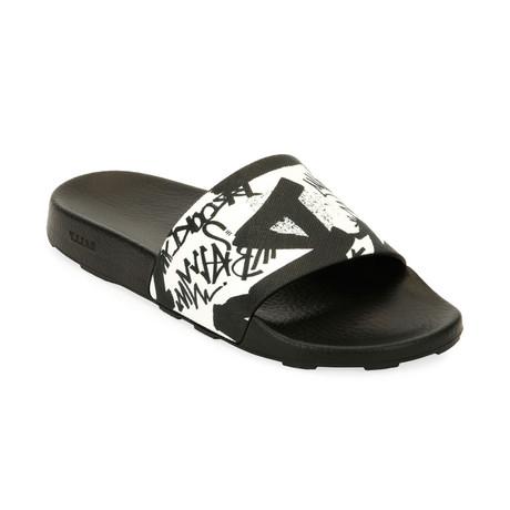 Slanter Slides // Black + White (US: 7)
