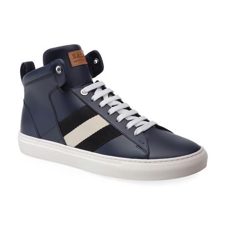 Hedern Ink Plain High Top Sneakers // Blue (US: 7)