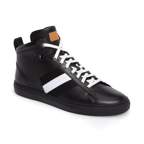 Hedern Ink Plain High Top Sneakers // Black (US: 7)