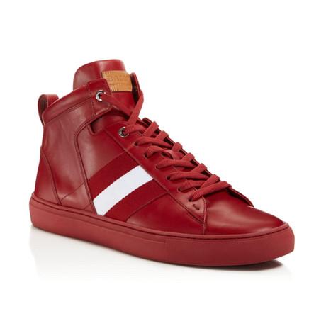 Hedern Ink Plain High Top Sneakers // Red (US: 7)