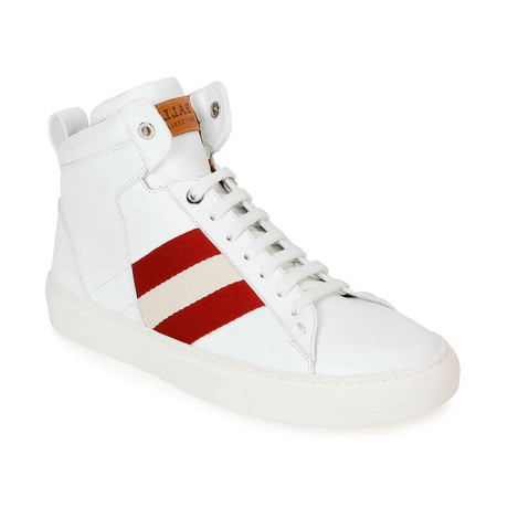 Hedern Ink Plain High Top Sneakers // White (US: 7)