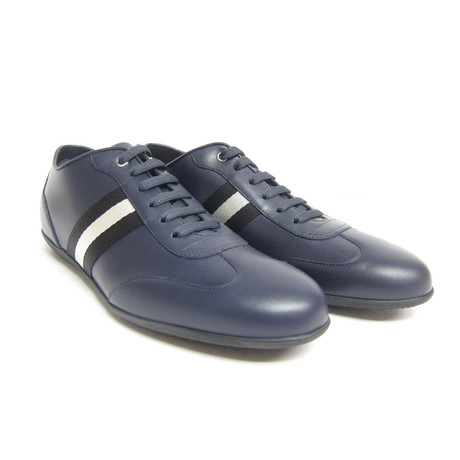 Harlam Plain Lace Up Sneakers // Blue (US: 7)