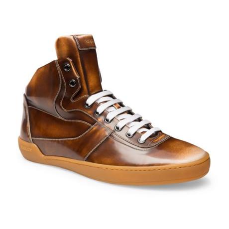Eroy 582 Brushed High Top Sneaker // Brown (US: 7)