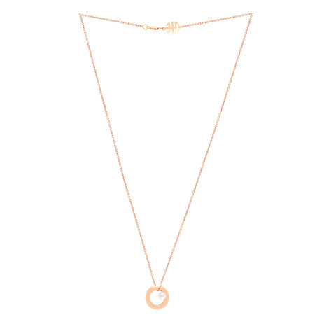 Mimi Milano 18k Rose Gold Violet Cultured Pearl Pendant Necklace II