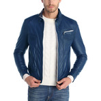 Haight Leather Jacket // Navy (M)