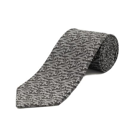 Ermenegildo Zegna // Silk Patterned Tie // Black