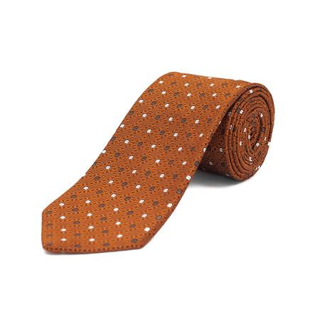 Ermenegildo Zegna // Silk Patterned Tie // Orange