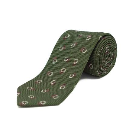 Ermenegildo Zegna // Silk Circular Patterned Tie // Green