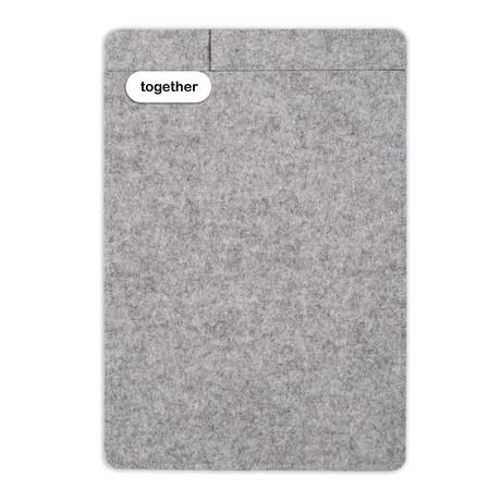 """Sleeve + Pencil // iPad 9.7"""" // Light Grey (iPad 9.7"""")"""