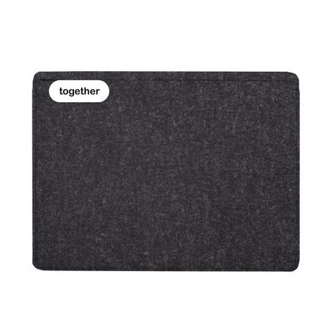 "Sleeve // iPad Pro 12.9"" // 1st + 2nd Gen // Charcoal (Long Side Opening)"