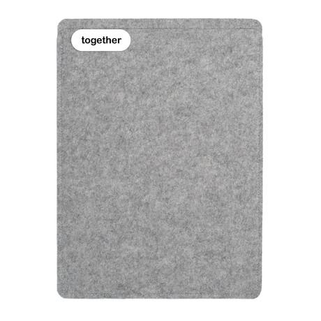 "Sleeve // MacBook Air 13"" (2008-2018) // Light Grey (Short Side Opening)"