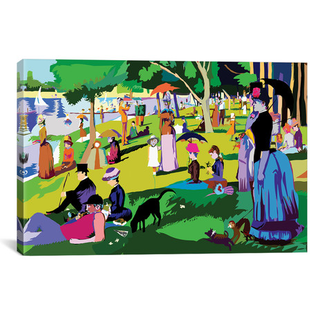 "Sunday Afternoon On The Island Of La Grande Jatte By Georges (26""W x 18""H x 0.75""D)"