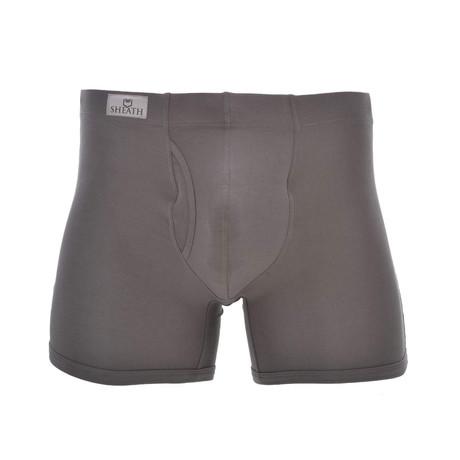 SHEATH 3.21 Men's Dual Pouch Boxer Brief // Gray (S)
