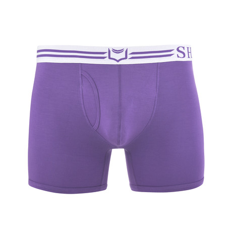 SHEATH 4.0 Men's Dual Pouch Boxer Brief // Purple (S)