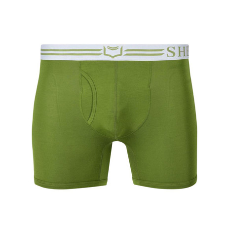 SHEATH 4.0 Men's Dual Pouch Boxer Brief // Green (S)
