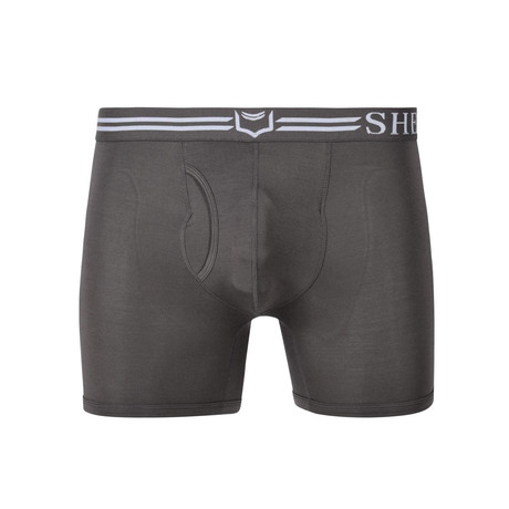 SHEATH 4.0 Men's Dual Pouch Boxer Brief // Gray (S)