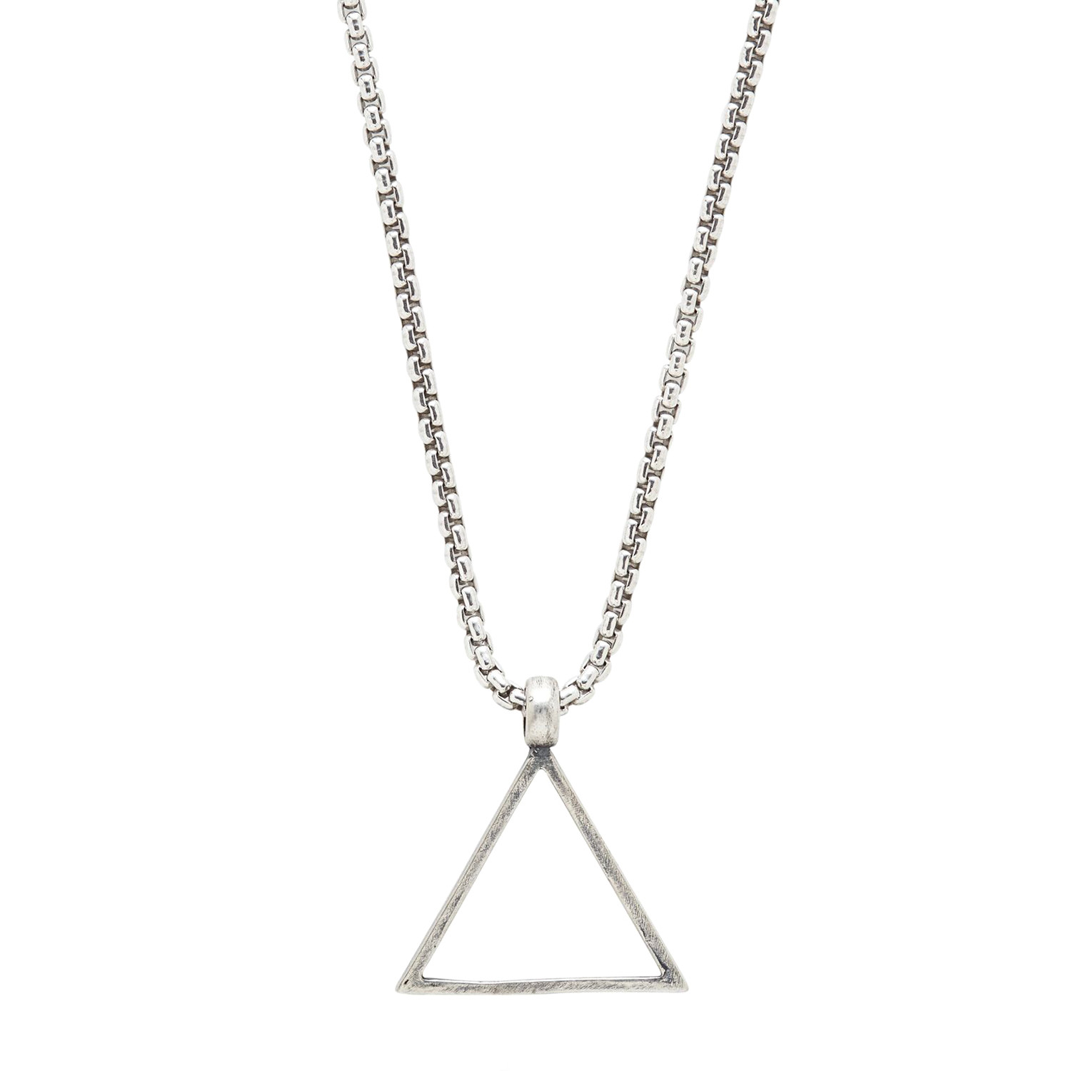 Sterling Triangle Necklace // Silver - Degs & Sal - Touch of Modern
