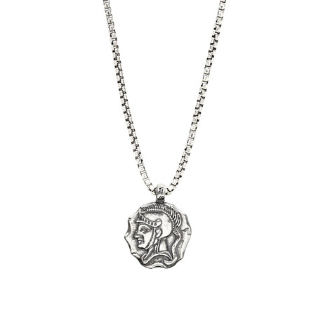 Sterling Spartan Necklace // Silver