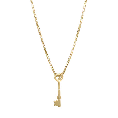 Key Necklace // Gold