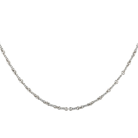 Sterling Twisted Cable Chain Necklace // Silver