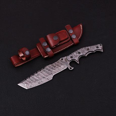 Damascus Tracker Knife // BK0180