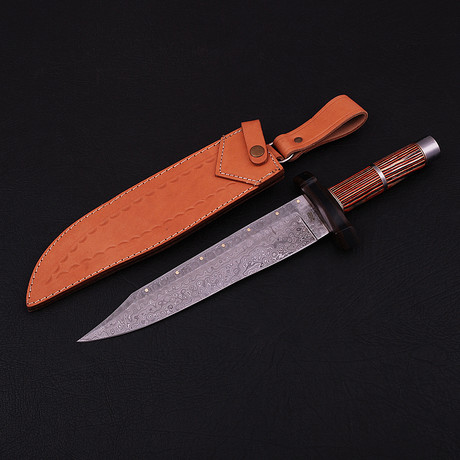 Damascus Bowie Knife // BK0293