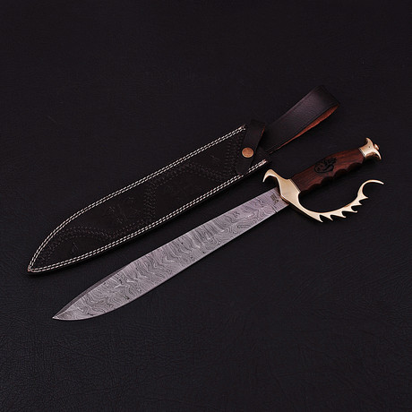 Damascus Bowie Knife // BK0296