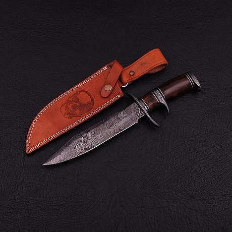 Damascus Subhilt Bowie Knife // BK0298