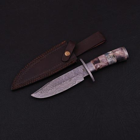 Damascus Hunting Knife // HK0323