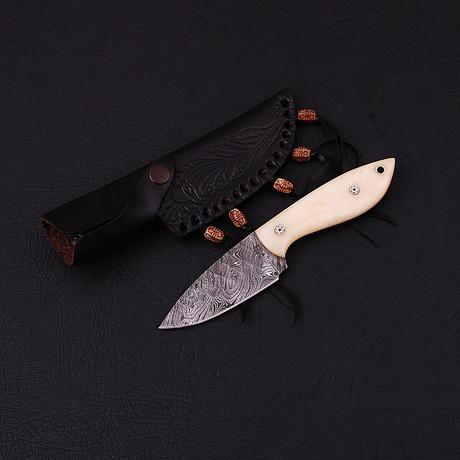 Damascus Skinner Knife // HK0326