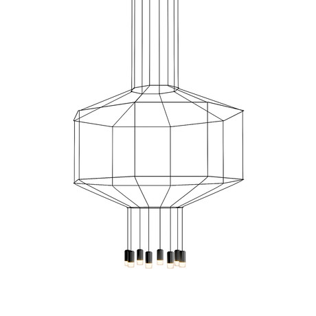 Wireflow // Octagon 3D Volume Hanging LED Lamp // Large
