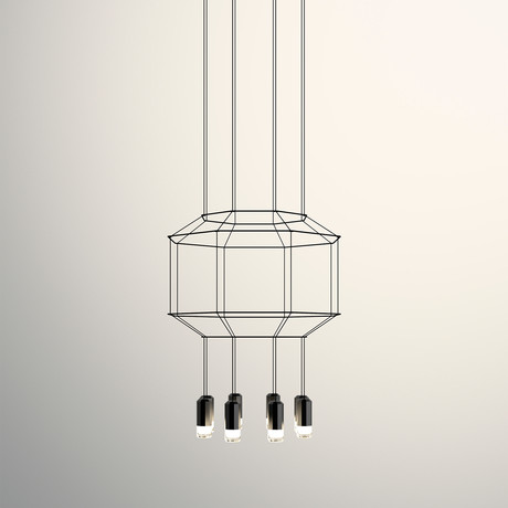 Wireflow // Octagon 3D Volume LED Pendant // Small