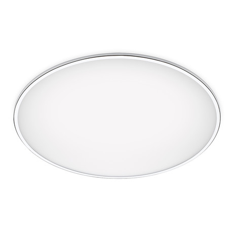 Big // Flush Mount Ceiling Lamp // Chrome // 47.25""