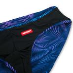 Swim Squared Etoile Reversible Swim Briefs // Black + Multicolor (XL)