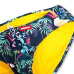 Swim Squared Tucano Reversible Swim Briefs // Yellow + Multicolor (XL)