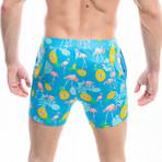 Badehose Flamant Swim Shorts // Blue + Multicolor (M)