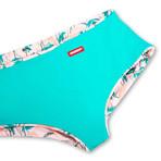 Swim Squared Dolphrose Reversible Swim Trunks // Teal + Multicolor (S)