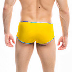 Swim Squared Pappagalli Reversible Swim Trunks // Yellow + Multicolor (M)