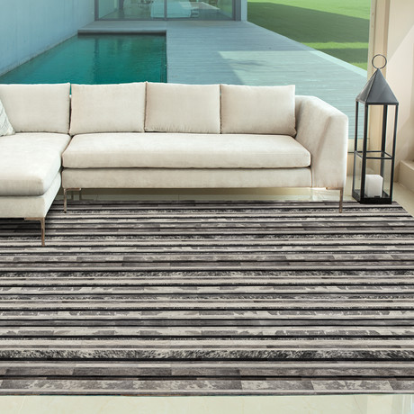 Parsifal Rug // Splated Pewter (5'L x 8'W)