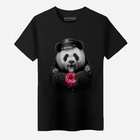 Panda Cop T-Shirt // Black (M)