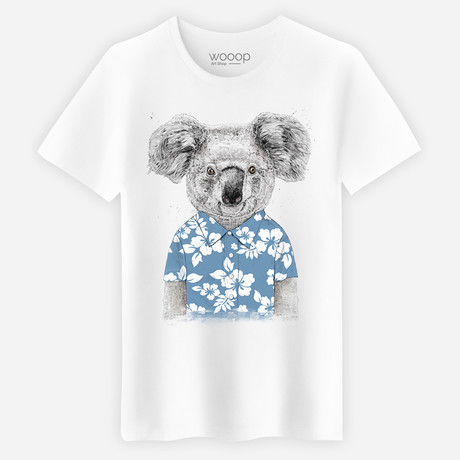 Summer Koala T-Shirt // White (Small)