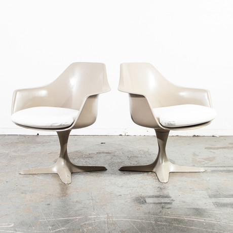 Burke Propeller Space Age Taupe Chair // Set Of 2