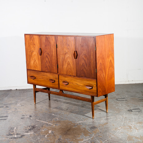 Danish Teak Credenza Highboard Cabinet
