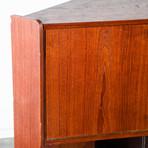 Danish Teak Corner Cabinet Bar Unit